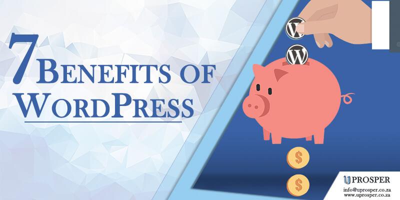 uprosper 7 benefits of wordpress